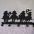 Silhouette Cowboys Coat Rack