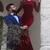 Red prom dress Mermaid Simple Long Sleeve Long Prom Dress Evening Dress
