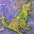 Roar! T-Rex Journal - Refillable Blank Book - Sketch Book - Scrap Book - 4x5