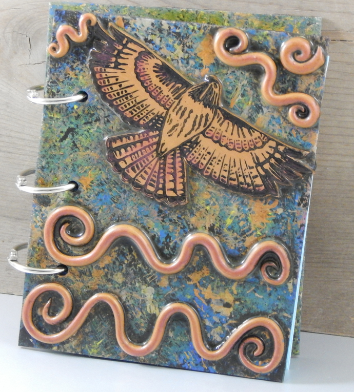 Red Tailed Hawk Journal - Refillable Blank Book - Sketch Book - Scrap Book -