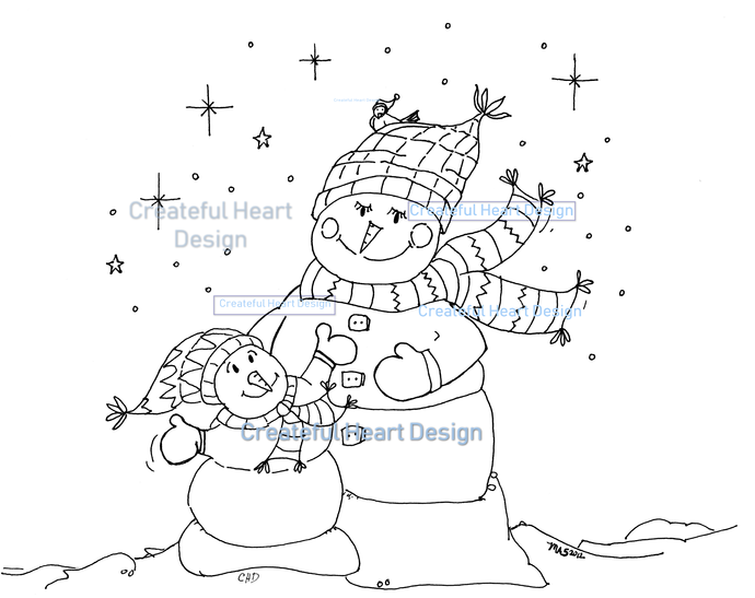 Snow Wonder - Coloring Page
