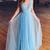Lace Prom Dresses A-line V-neck Straps Floor-length Chic Long Prom Dress