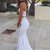 Two Piece Prom Dresses Sweetheart Sexy Long White Mermaid Prom Dress