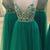 Chic Prom Dresses Spaghetti Straps A-line Rhinestone Long Tulle Prom Dress