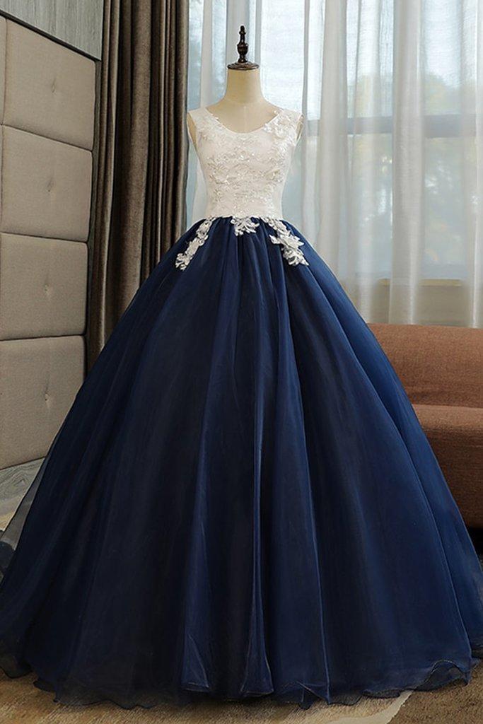 d6af22fed56 Vintage Navy Blue Tulle Long Sequined by prom dresses on Zibbet