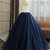Vintage Navy Blue Tulle Long Sequined Quinceanera Dress, Formal Prom Dress