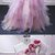 Pink Tulle One Shoulder Flowers Applique Sweet 16 Prom Dress, Ruffles