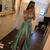 Simple Prom Dresses Off-the-shoulder Satin A-line Long Slit Prom Dress