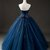 Elegant Navy Blue Tulle Sweetheart Neck Long Formal Prom Dress With Lace