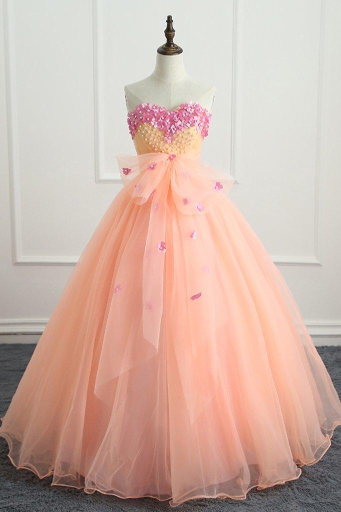 Peach Colored Prom Dresses