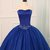 Royal Blue Tulle Strapless Long Beaded Formal Prom Dress, Party Dress With