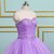 Sweetheart Neck Lavender Organza Long Layered Ball Gown, Formal Prom Dresses
