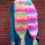 Wonderful Crochet Candy swirl, scarf, fun, handmade, green, yellow, pink,