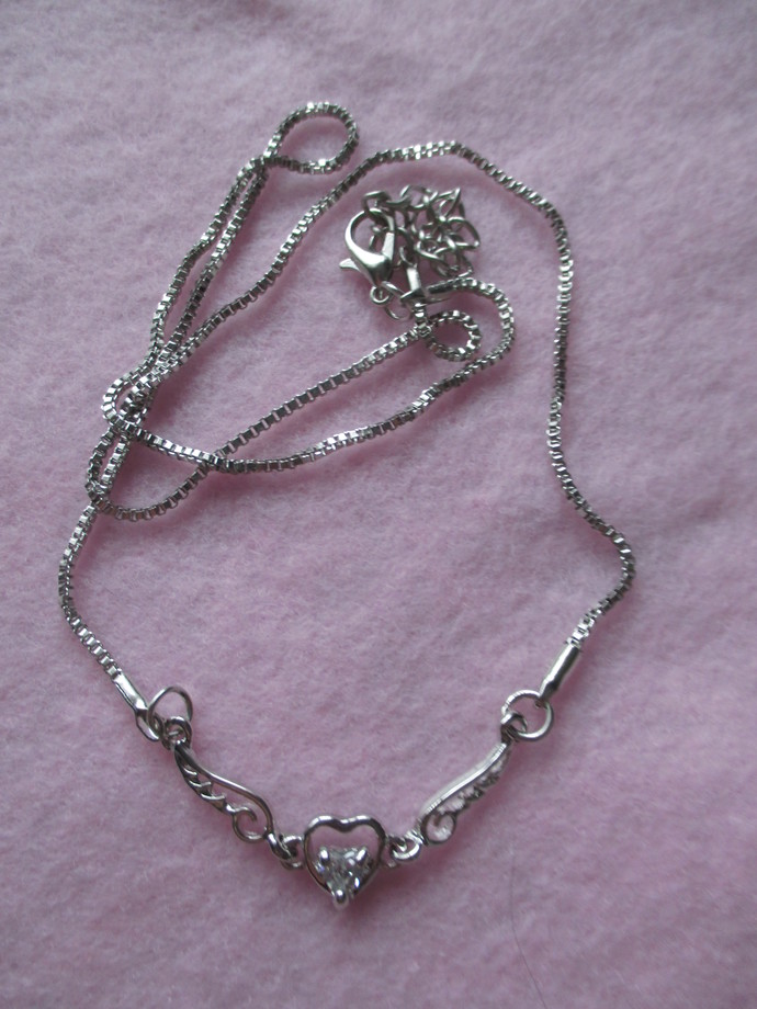 Diamante Winged Necklace & Boxed Chain