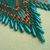 Native American Style Brick Stitched Roxanne Bird Design Earrings in Matte Teal