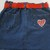 Girl's Denim Skirt - Show Your Love - Colorful Red and White Hearts - Hand