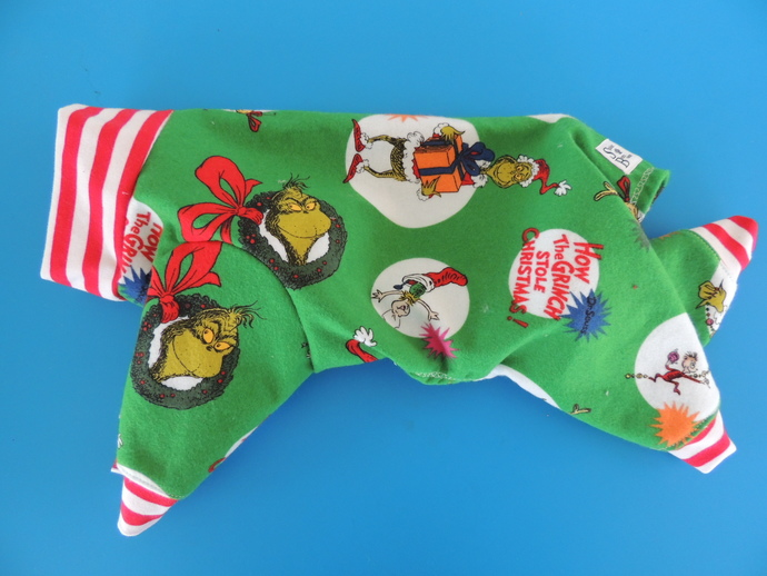 SMALL Christmas Grouch FLANNEL PJs