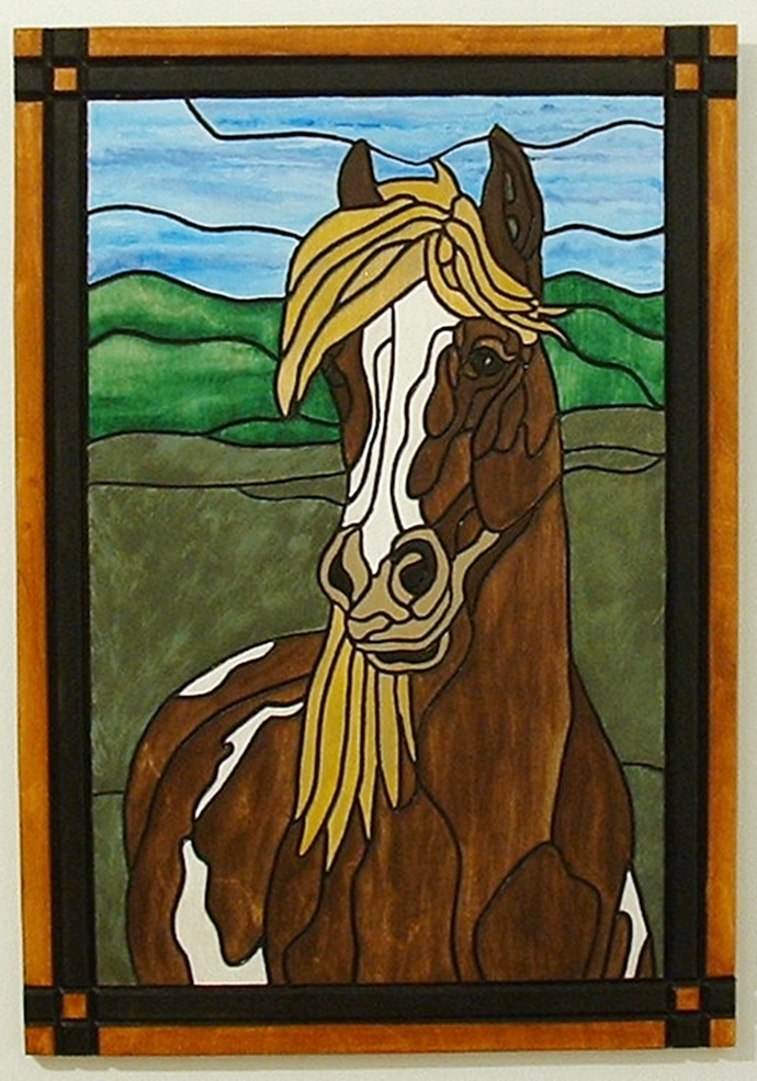 Magnificent Animal, Horse, Wood Wall Hanging, Wall Art, Pet Memorial
