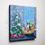 Kitties and Their Christmas Tree Room Original Cat Folk Art Acrylic Painting