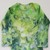 Unisex Bodysuit, Long Sleeve Ice Dyed Top,  Shades Green and Blue, Great Holiday