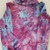 Toddler's Turtleneck Top, Ice Dyed Turtleneck,  Shades of Pink, Aqua And Purple,