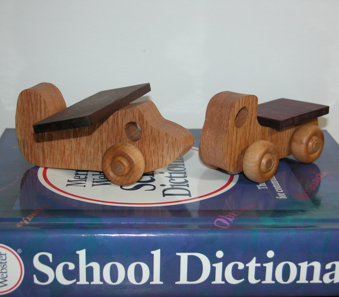 Airplane and Truck - Child's Toys - Flatbed Truck and Airplane - Free Shipping