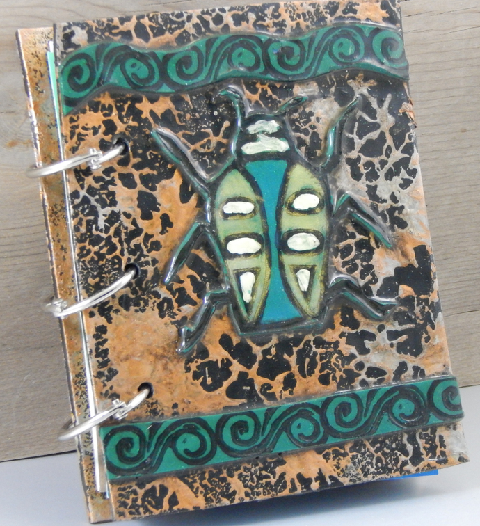 Beetle Journal - Refillable Blank Book - Sketch Book - Scrap Book - Notebook -