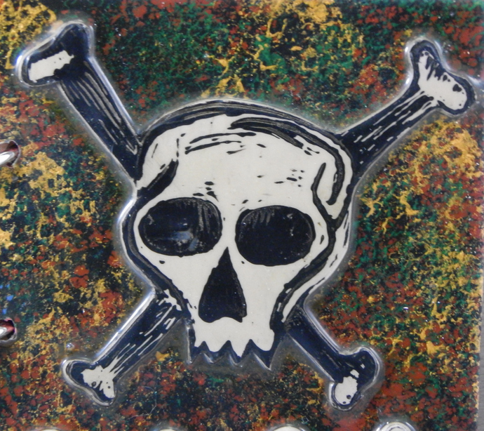 Skull and Crossbones Journal - Refillable Blank Book - Sketch Book - Scrap Book