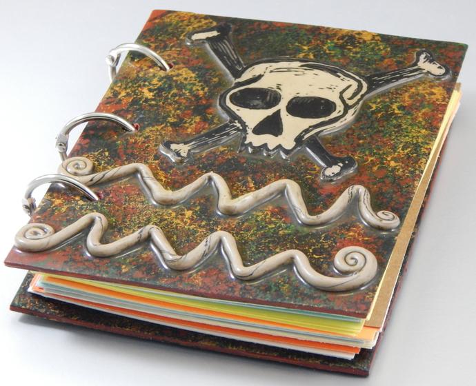 Skull and Crossbones Journal - Refillable Blank Book - Sketch Book - Scrap Book