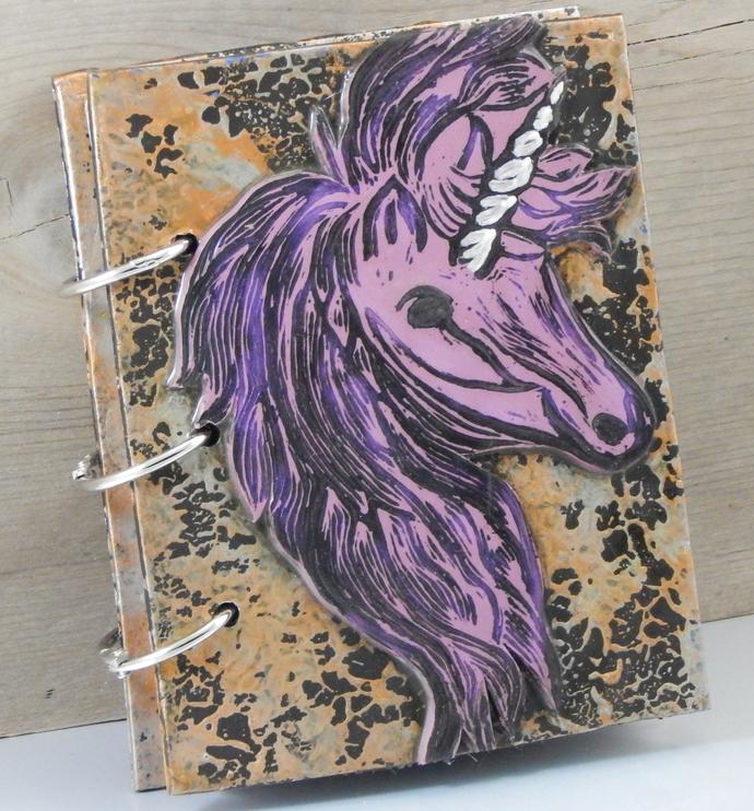 Unicorn Journal - Refillable Blank Book - Sketch Book - Scrap Book - Notebook -