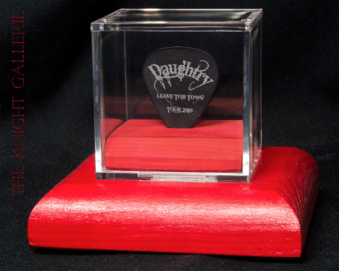 Authentic guitar pick in a display case: DAUGHTRY