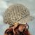 Textured Slouchy Visor Hat Crochet Newsboy Cap Handmade Grey Buttoned Hat Boys