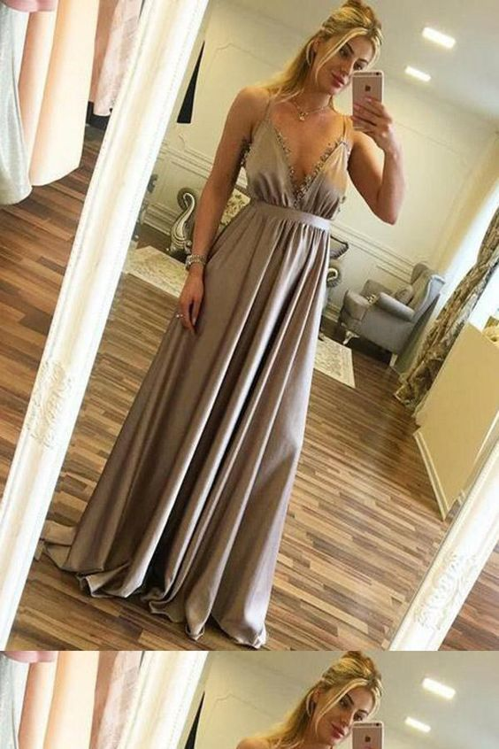 Outlet Absorbing Sexy Prom Dresses, Prom Dresses Long, V Neck Prom Dresses