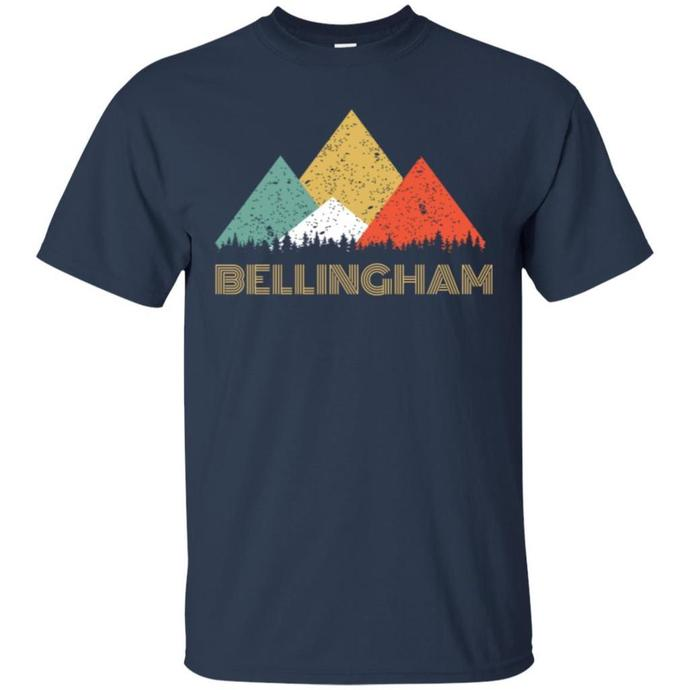 Retro City of Bellingham Mountain Men T-shirt, Retro City T-shirt, Bellingham