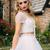 Two Piece Prom Dresses V-neck Floor-length Sexy Long Beading Ivory Prom Dress