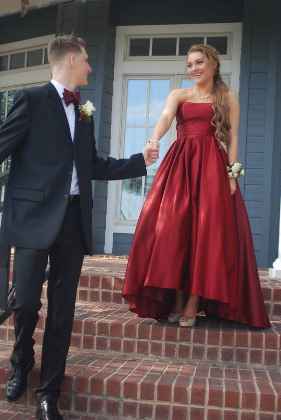 498208eb681 Strapless High Low Semi Formal Party Dress by prom dresses on Zibbet