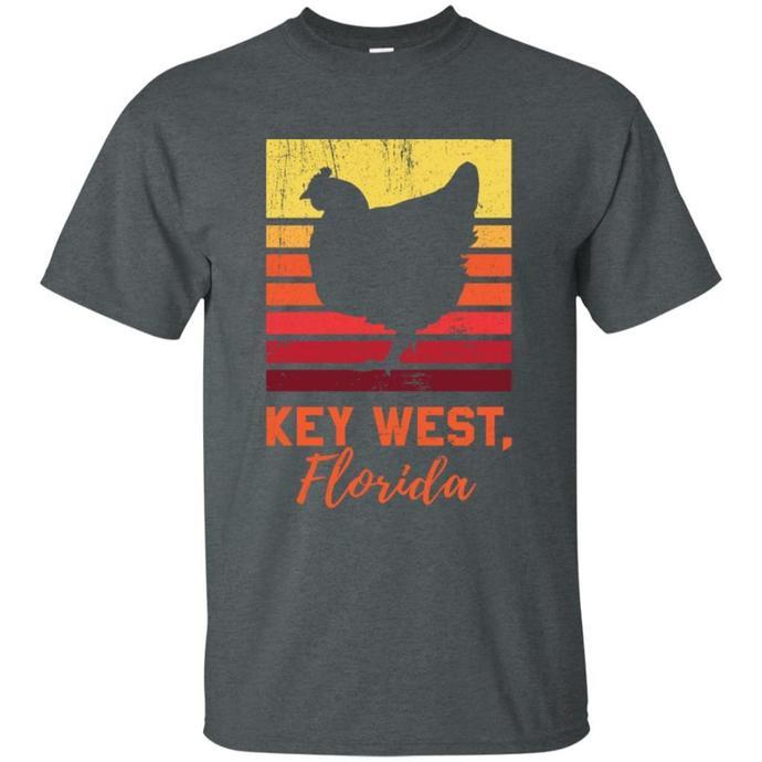 Retro Distressed Key West Florida Chicken Men T-shirt, Key West Florida T-shirt,
