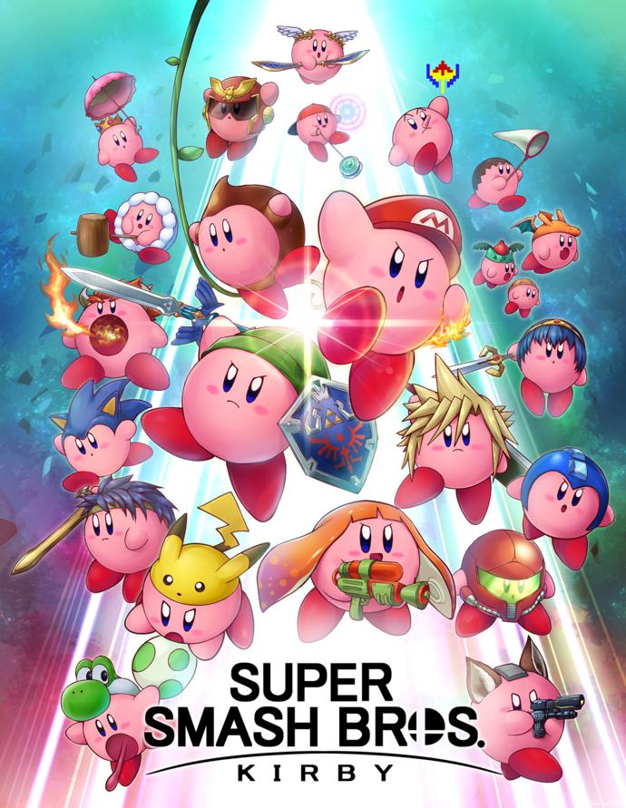 "Super Smash Bros Kirby Canvas Print (13""x19"" or 18""x28"")"