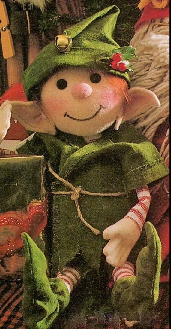 instant PDF Digital Download Vintage Sewing pattern to make an Elf or Doll A