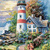 Light House Point Cross Stitch Pattern***LOOK***X***INSTANT DOWNLOAD***