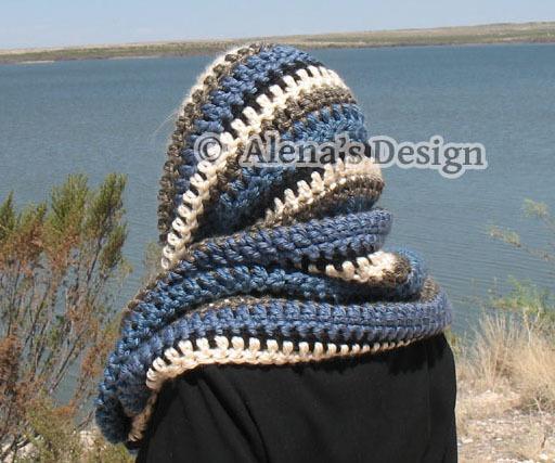 Crochet Pattern 141 Crochet Scarf Pattern Infinity Scarf Striped Scarf Hooded