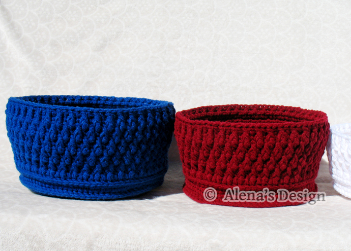 Crochet Basket Pattern 164 Nesting Baskets in three sizes Crochet Patterns