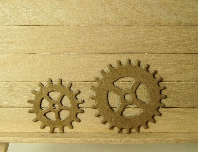 3pc Gears Steampunk Cutting Die Set