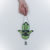 """""""Hand of the Goddess"""" Stained Glass Hamsa Talisman with Jade and Fluorite"""