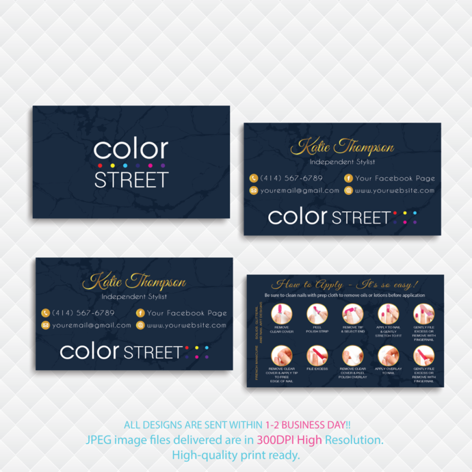Personalized Color Street Business Card, Color Street Business Cards, How to