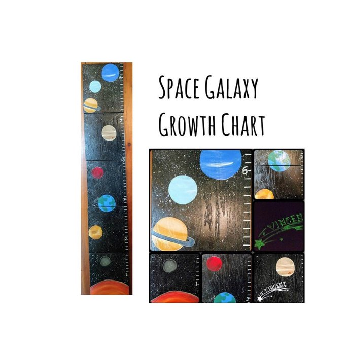 Outerspace Planet Growth Chart | Free Shipping