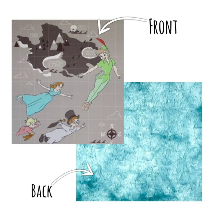 Soft Cuddly Peter Pan Blanket | Throw | Baby Gift | Luxurious