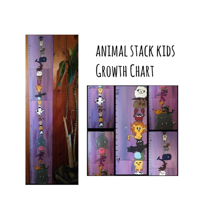 Animals Growth Chart Free Shipping By Eertflair On Zibbet