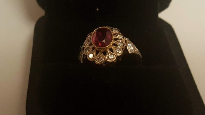 Brilliant and Ruby Ring