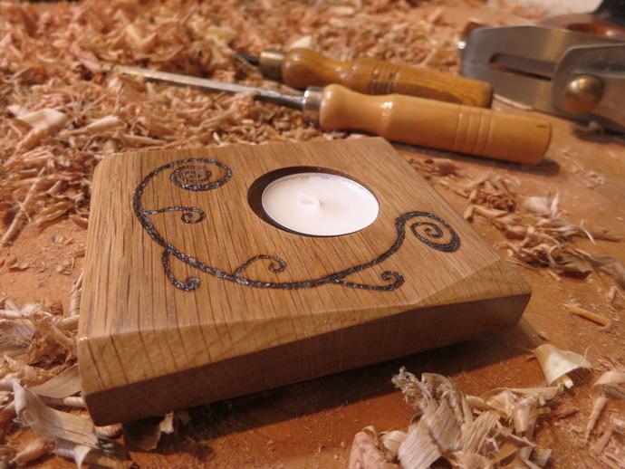 Unique spiral design tea light candle holder